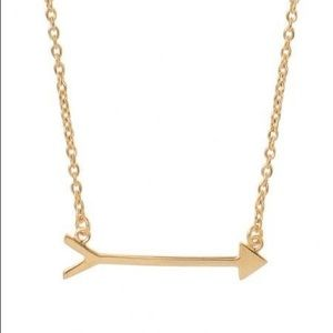 Stella & Dot Arrow On The Mark Gold Necklace